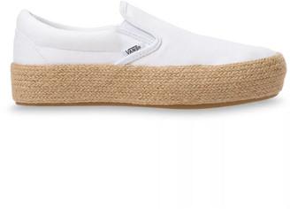 Vans Linen Slip-On Platform Espadrille SF Womens Shoes - ShopStyle