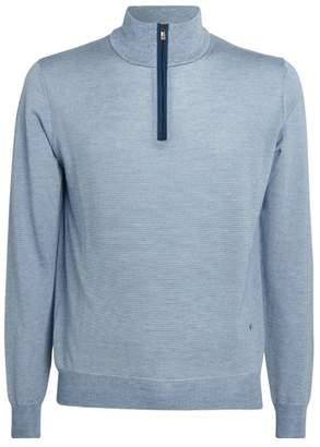 Isaia Cashmere-Silk Half-Zip Sweater