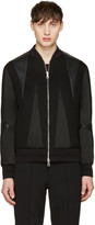 Neil Barrett Black Panelled Bomber Jacket