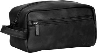Ben Sherman Vegan Leather Top Zip Travel Kit Toiletry Bag