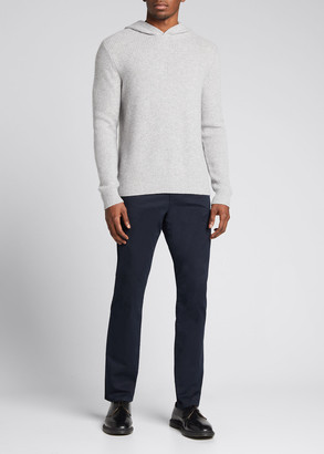 Vince Men's Marled Stitch Cashmere Pullover Hoodie