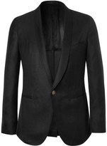 Caruso - Black Slim-fit Cashmere And Silk-blend Tuxedo Jacket