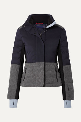 Erin Snow Sari Color-block Quilted Jacket - Navy
