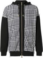 Balmain houndstooth print hoodie