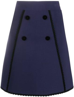 Sandro Paris A-line mini skirt