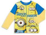 Nannette Boys 2-7 Mock-Layered Minion Long-Sleeve Graphic T-Shirt