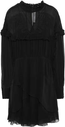 IRO Paradiz Layered Broderie Anglaise Georgette Mini Dress