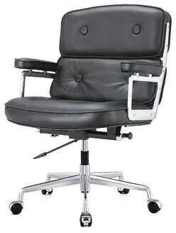 Genuine Leather Executive Chair Meelano Upholstery Color: Dark Brown