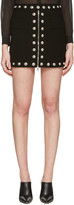 Versus Black Lion Medallion Miniskirt