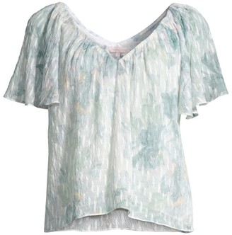 Rebecca Taylor Lily Flutter Sleeve Top