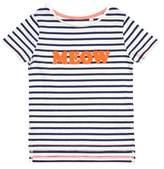 Burton Mens **Girls Long Sleeve 'Meow' Striped T-Shirt (18 months - 6 years)