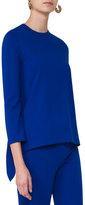 Akris Punto Bracelet-Sleeve Jersey Tunic, Blue