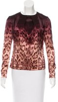 J Brand Leopard Print Long Sleeve Top