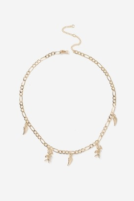 Topshop Cherub Wing Charm Necklace