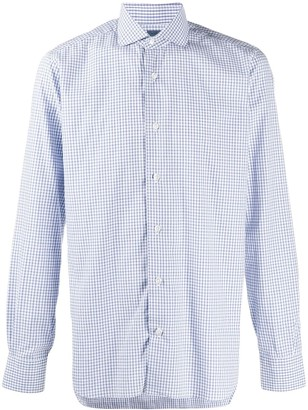Barba Gingham Print Shirt