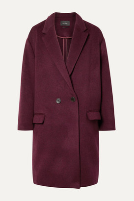 Isabel Marant Filipo Oversized Double-breasted Wool-blend Felt Coat - Burgundy