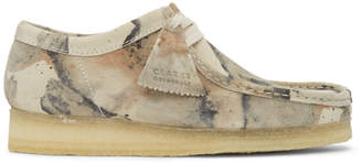 Clarks Beige Camo Wallabee Moccasins