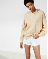 Express crossover neck hoodie