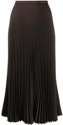 Prada Pleated Mid-Length Skirt With Elastic Waistband