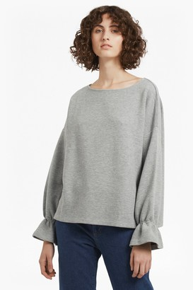 French Connection Ellen Fluted Sleeve Textured Jumper