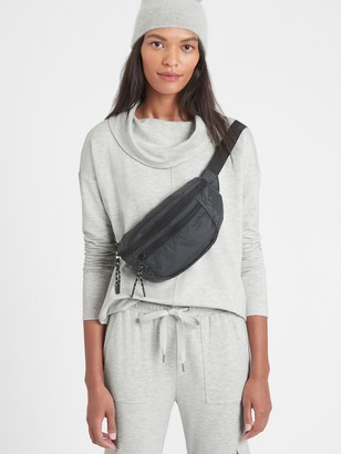 Banana Republic Petite Baby Terry Funnel-Neck Top