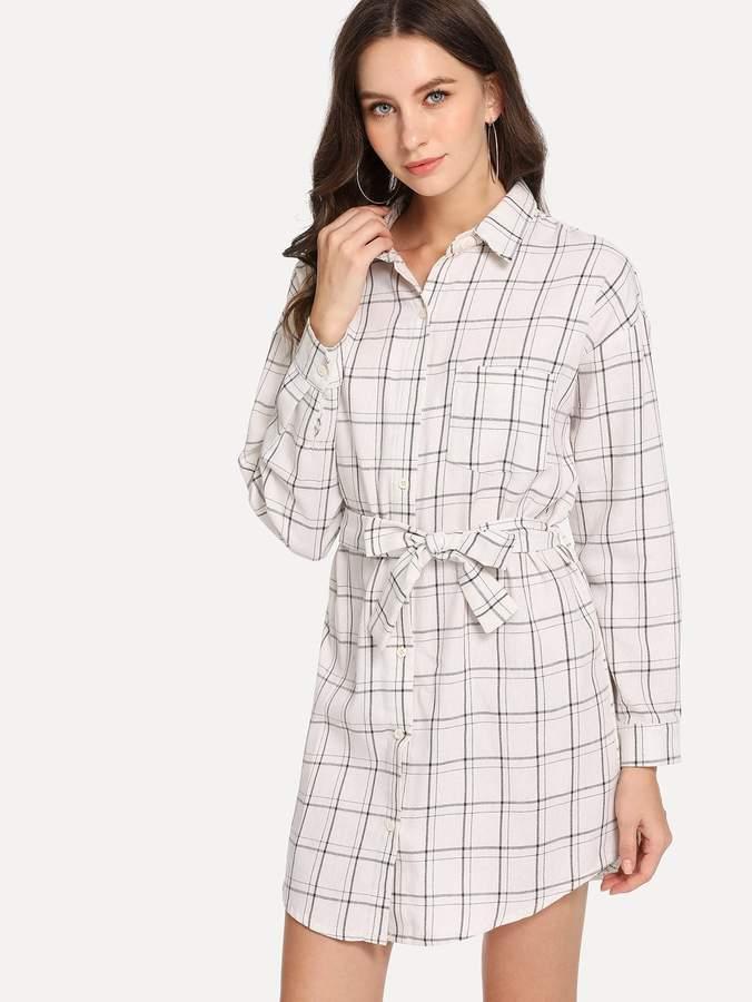 a9c3123d0e Shein White Long Dresses - ShopStyle