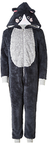 John Lewis Children's All-Over Cat Onesie, Black