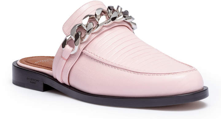 Givenchy Light pink chain loafers