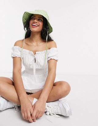 Influence bardot milkmaid smock dress