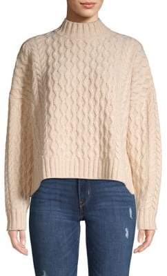 Max Mara Origano Cable-Knit Wool Sweater