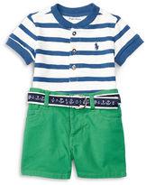Ralph Lauren Childrenswear Two-Piece Yarn-Dyed Tee & Shorts Set