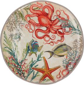 Rose&Tulipani - Melamine Sea Life Round Platter - Melamine