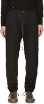 Attachment Black Wrinkled Pinstripe Trousers