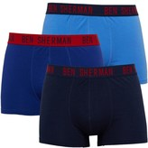 Ben Sherman Robert Three Pack Boxers Navy/Blue/Sky