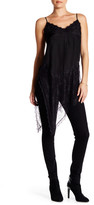 Haute Hippie Lace Inset Asymmetrical Slip Silk Tunic Dress