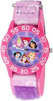 Disney Girl's 'Cinderella' Quartz Plastic and Nylon Automatic Watch, Color: (Model: W002949)