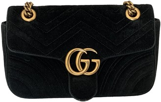 Gucci Marmont Black Velvet Handbags