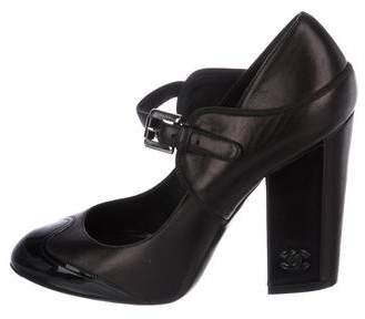 Chanel Leather Mary Jane Pumps