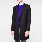Paul Smith Men's Navy Wool-Cashmere Blend Overcoat