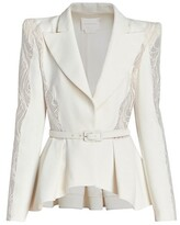 Thumbnail for your product : ZUHAIR MURAD Cady & Macrame Belted Jacket