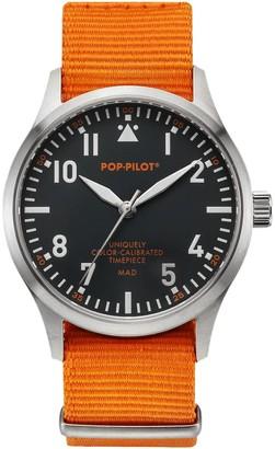 Pop Pilot Unisex Quartz Watch with Mad Analogue Quartz Nylon P4260362630086