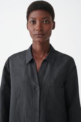Cos Linen-Cotton Tunic Shirt