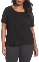 Eileen Fisher Plus Size Women's Silk Jersey Tee