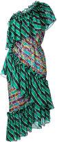 Marco De Vincenzo striped ruffle dress - women - Silk/Polyester - 40