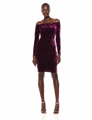 Brinker & Eliza Women's Velvet Off The Shoulder Sheath Dress