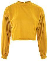 Topshop Velvet drama sleeve blouse