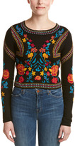 Romeo & Juliet Couture Intarsia Crop Sweater