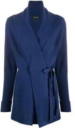Emporio Armani Side Tie Fastening Cardigan