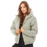 Thumbnail for your product : Brave Soul Womens Fernie Peach Padded Jacket Dusty Sage