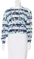 Kenzo Abstract Print Metallic-Accented Sweater